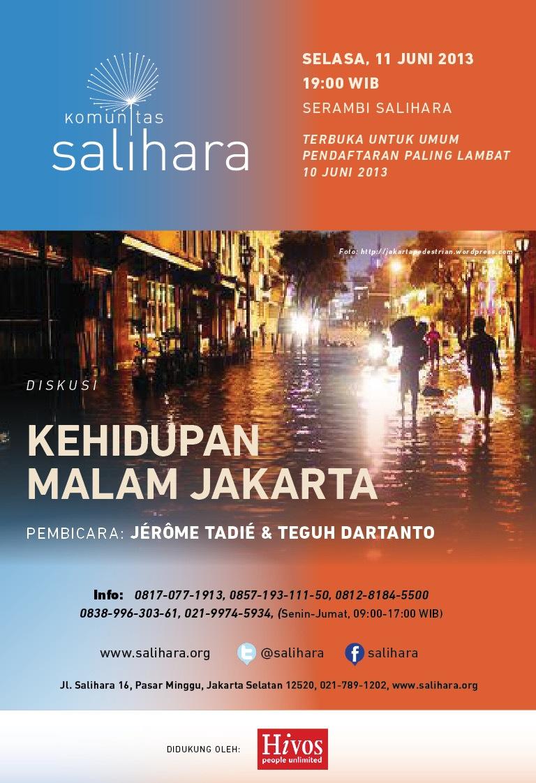 Conference on Jakarta at night at Salihara Community, Jakarta