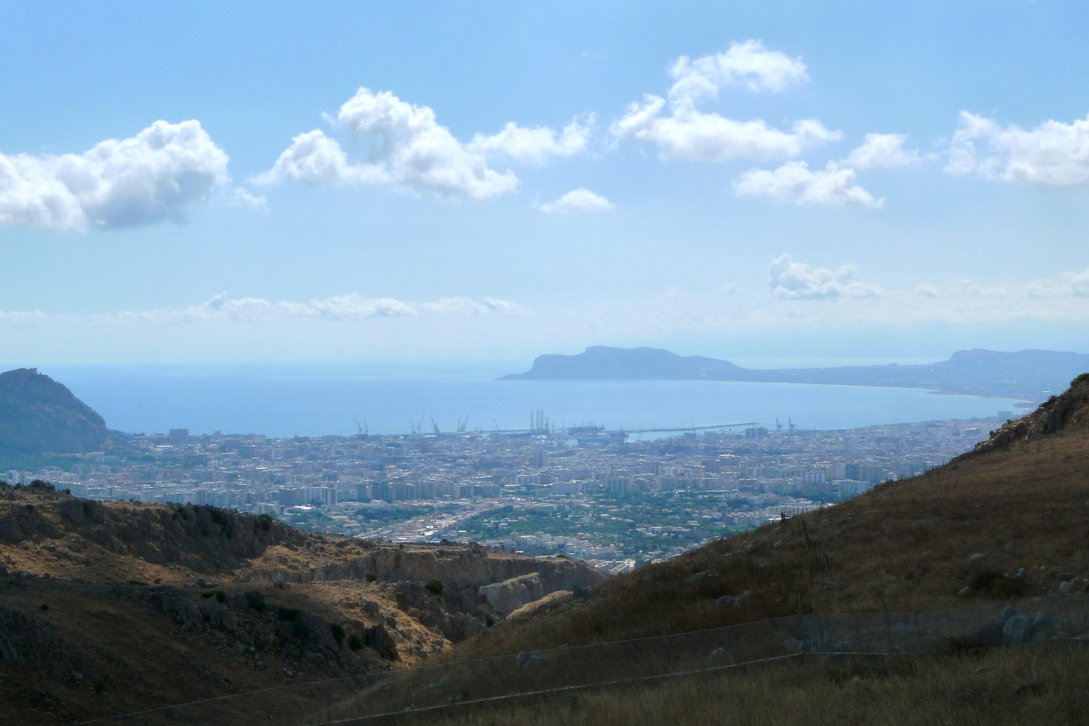 Golfe de Palerme depuis Bellolampo